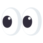 Looking at docs with apps emoji eyes graphic