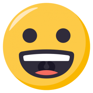 grinning emoji graphic by docs with apps