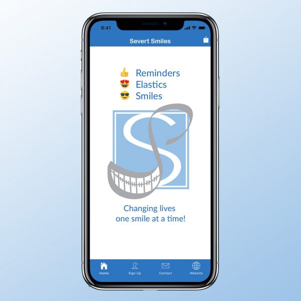 Image of Severt Smiles app on iphone